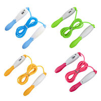 NE_ AG_ HD_ Adult Children Counting Skipping Jump Rope Adjustable Gym Fitness To