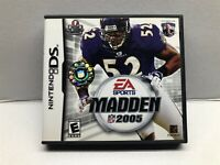 Madden NFL 05 (Nintendo DS, 2004) Complete w/ Manual - Tested Working