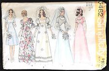 Simplicity Pattern 5462 Wedding Dress Gown Bridesmaid Misses' Size 10 Vtg c1972