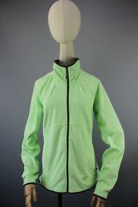 Arc'teryx Polartec made in Indonesia Womens Fleece Light Green Zip JACKET Size M