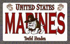 Marine Devil Dog - Magnetic Car Sign - 6in X 3.75in