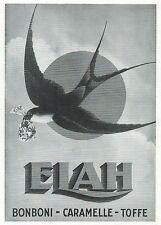 J0889 Caramelle ELAH - Illustrazione - Pubblicità grande formato - 1936 Old ad