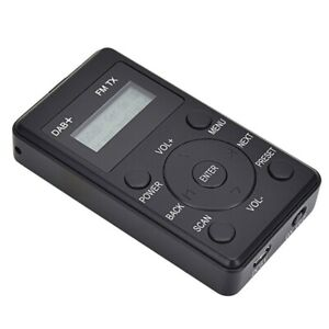 Mini DAB+ Car-mounted Radio Receiver FM Stereo Music W/ LCD Display Earphones