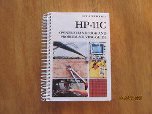 HP-11C CALCULATOR ORIGINAL OWNERS HANDBOOK & PROBLEM SOLVING GUIDE