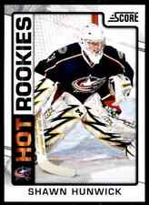 2012-13 Score hot Rookies Shawn Hunwick Rookie #525