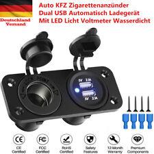 12V/24V Auto KFZ Zigarettenanzünder Verteiler 2 Steckdose Dual USB Adapter 150W