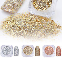 3boxes Gold Silver Nail Art Powder Glitter Laser Acrylic UV Gel Decoration Tips