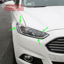 ABS Chrome Front Head Light Cover Trim For Ford Fusion Mondeo 2013 2014 2015 16