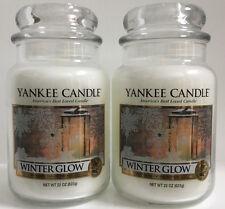 Yankee Candle WINTER GLOW 22 Oz Large Jars Lot Of 2