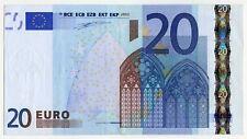 20 Euro Fauté EUROPE 2002 IMPRESSION DECALÉE
