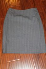Brooks Brothers Gray Pinstripe Skirt Blazer Suit all weather wool Ladies 6 (b41)