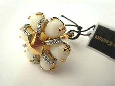 Valentines Day Juicy Couture Beautiful Daisy Gold toned Adjustable Ring NIB NWT