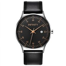 Infinity COM 01 Silver & Black Men's Minimalist Watch - Men Fashion Watch