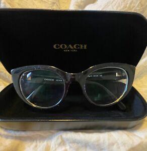 Coach prescription eyeglass frame with case