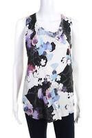 3.1 Phillip Lim Womens Sleeveless Scoop Neck Floral Print Blouse Silk Size 0