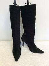 SHELLYS BLACK SUEDE KNEE LENGTH BOOTS SIZE 3.5/36
