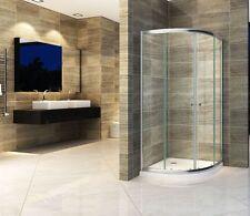 JUNISO-R 80 x 80 Viertelkreis Glas Duschkabine Duschtasse Dusche Duschabtrennung