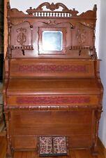Pristine1913 Farrand Organ Co Oak Victorian Parlor Pump Organ -Detroit Michigan