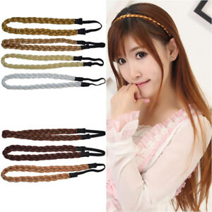 Bohemian Braid Synthetic Hair Band Plaited Plait Elastic Headband Hairband New #