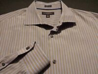 Banana Republic Mens Large Long Sleeve Button-Front Multicolor Striped Shirt