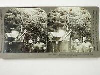 Antique Stereoview Card. Keystone. (41) 18612 Shooting German Airplanes