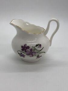 Regency bone china petite creamer vintage violets