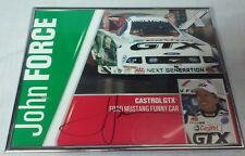 John Force Autograph 8x10 2006 Castrol GTX Ford Mustang Funny Car Hero Card