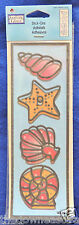 Shell Collection Plaid Gallery Glass #16739 Adhesive Stick-Ons Design Outlines