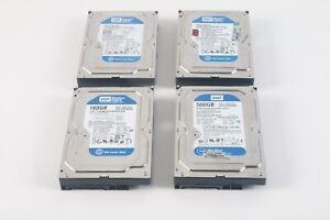Western Digital WD1600AAJS 160GB , WD3200AAJS 320GB , WD5000AAKX 500GB Lot of 4