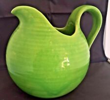 RARE LARGE ART DECO SHORTER AND SONS BRIGHT GREEN JUG 22 X 22CMS WIDE
