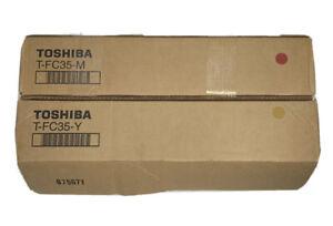 NEW Genuine Toshiba T-FC35-M T-FC35-Y Toner Cartridge