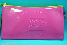 BILLABONG School Fluro Pink Pencil Case Cosmetics Travel Bag Boys Girls NEW