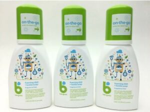 Babyganics 3-pk Foaming Dish Soap Bottle Soap 3.38 oz 100 mL New