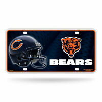 Rico Industries Chicago Bears NFL Metal License Plate Tag