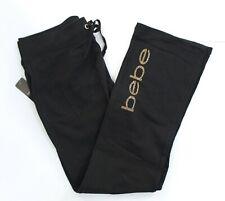 bebe Women's Bling Logo Active Pants Size L - Jet Black