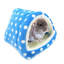1x Blue Hamster Guinea Pig Sleeping Bag Small Pets Hammocks Warm House Bed 8*8cm