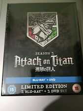ATTACK ON TITAN SEASON 2 LIMITED EDITION BLU RAY AND DVD BRAND NEW SEALED RARE