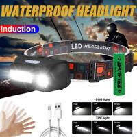 Wasserdicht 5000LM LED USB Scheinwerfer Stirnlampe Lampen Kopflampe 18650 Akku