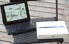Apple iPad 4th Gen 32GB Wi-Fi 9.7in - Black w/ BOX bundle case keyboard