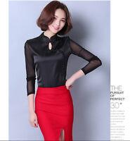 Chinese Style Women Top T-shirt Long Sleeve Blouse Cheongsam QiPao S-3XL