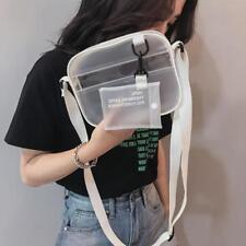 Women PVC Jelly Transparent Shoulder Crossbody Bag Girl Messenger Clutch Handbag