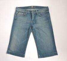 7 For All Mankind Womens Size 29 Denim Bermuda Jean Shorts Distressed
