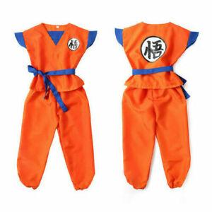 2020 Kids Anime Dragon Ball Z Son GoKu Cosplay Costume Outfit Halloween Gift