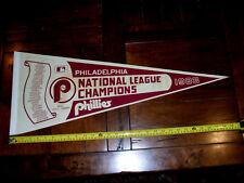 Philadelphia Phillies Original 1983 National League Champions Pennant Full Size