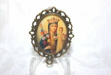 Custom Bronze Rosary Center Part/Color /Rosary Making/Madonna and Child # 2