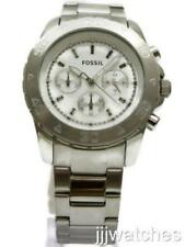 New Fossil Men Chronograph Steel Dress 24 Hours Watch 45mm BQ1178 $135