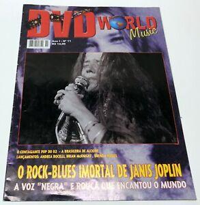 Janis Joplin DVD World magazine Brazil 2001 Hard to Find