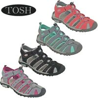 Walking Sandals Sports Sea Shoes Hiking Closed Toe Twin Strap Flat Womens TOSH