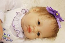 "22""Handmade Life like Newborn Reborn Baby Soft Vinyl silicone Girl Doll/SDK-75R4"