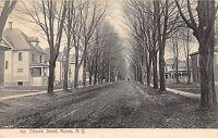 B76/ Nunda New York NY Postcard 1919 Church Street Homes